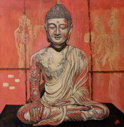 Buddha Paintings - Awakening by Tom Roderick