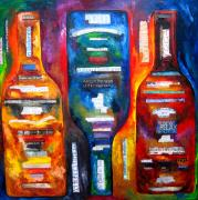 Wine Bottles Art - Awaking from the Inside Out by Patti Schermerhorn
