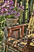 Garden Chair Framed Prints - Away From it All Framed Print by Bonnie Bruno