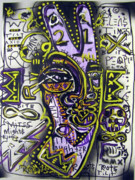 Outsider Art Mixed Media - Axis Tilt by Robert Wolverton Jr