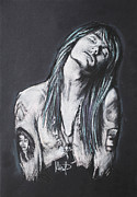 Axl Rose Framed Prints - Axl Rose Framed Print by Melanie D