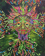 Visionary Art Painting Prints - Aya Print by Christine Marsh
