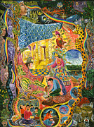 Visionary Art Painting Originals - Ayahuasca Chayana by Pablo Amaringo
