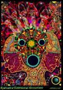 Intelligence Mixed Media Framed Prints - Ayahuasca Dimensional Encounter Framed Print by Myztico Campo