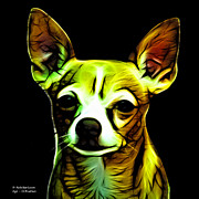 Rateitart Digital Art Prints - Aye Chihuahua  Print by James Ahn