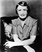 1950s Portraits Framed Prints - Ayn Rand, 1957 Author Of Atlas Shrugged Framed Print by Everett