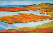 Salt Pastels Prints - Aytumn Salt Marsh Print by Judi Schultze