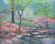 Blooming Pastels Framed Prints - Azalea Garden Framed Print by Julie Mayser