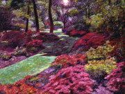 Azalea Park Print by David Lloyd Glover