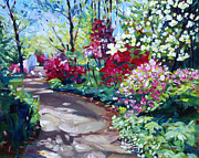 Pathway Paintings - Azalea Pathway by David Lloyd Glover