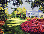 Beautiful Scenery Paintings - Azalea Spring by David Lloyd Glover