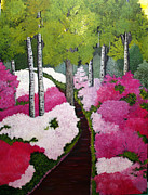 Pathways Painting Originals - Azalea Woods by Norma Tolliver