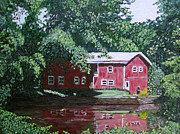 Sutton Farm Paintings - Azelyns Farm by Sodi Griffin