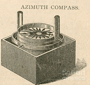 Navigate Framed Prints - Azimuth Compass, Navigational Tool Framed Print by Photo Researchers