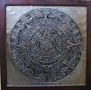 Metal Reliefs - Aztec Calendar by Cacaio Tavares