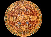 Carved Reliefs Originals - Aztec Calendar by Eduardo Paz
