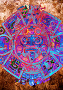 Aztec Digital Art - Aztec Calendar by Juan Jose Espinoza