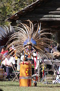Drumsticks Photo Acrylic Prints - Aztec Drummer Acrylic Print by Linda A Waterhouse