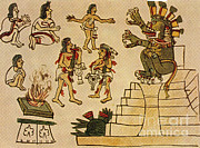 Priests Prints - Aztec Priests Appease Mictlantecuhtli Print by Photo Researchers