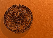 Handcarved Art - Aztec Sun Stone, Artwork by Victor Habbick Visions