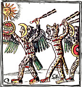 Florentine Posters - Aztec Warriors, Codex Florentine, 16th Poster by Photo Researchers