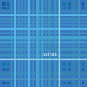Square Art Drawings - Azure Blue Abstract by Frank Tschakert