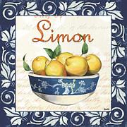 Azure Lemon 3 Print by Debbie DeWitt