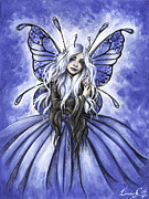 Fairy Art Framed Prints - Azure  Framed Print by Lindsey Cormier