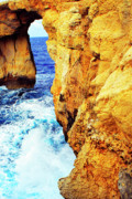 Gozo Acrylic Prints - Azure Window Gozo  Malta Acrylic Print by Thomas R Fletcher