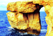 Gozo Acrylic Prints - Azure Window Island of Gozo Acrylic Print by Thomas R Fletcher