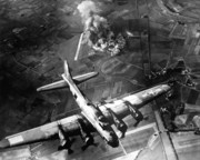 United States Art - B-17 Bomber Over Germany  by War Is Hell Store