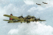 Usaaf Digital Art Posters - B-17 Flying Fortress Bomber  Poster by Randy Steele