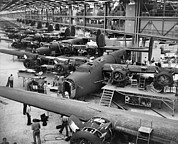 Factory Photos - B-24 Liberator Bombers Nearing by Everett