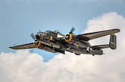 Warbird Photos - B-25 Georgies Gal by Bill Lindsay