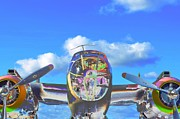 Fixed Wing Multi Engine Photo Framed Prints - B-25J Jazzed Framed Print by Lynda Dawson-Youngclaus