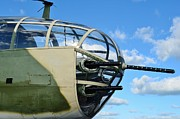 Fixed Wing Multi Engine Metal Prints - B-25J Nose Metal Print by Lynda Dawson-Youngclaus