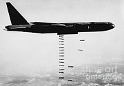 Usaf Framed Prints - B-52 Bomber Framed Print by Omikron