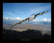 Military Photo Framed Prints - B-52 Buff Framed Print by Larry McManus