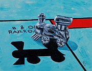 Monopoly Paintings - B and O Railroad  by Herschel Fall