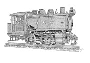 Shipping Drawings - B and O Steam Switcher by Calvert Koerber