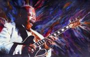 Guitarists Paintings - B. B. King by Ken Meyer jr