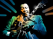 Performer Prints - B B King Print by Paul Sachtleben
