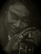 B.b.king Paintings - B B King by Roberta Voss