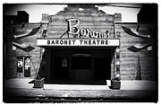 Asbury Park Jersey Shore Architecture Posters - B is for Baronet bw Poster by John Rizzuto