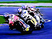 Motogp Prints - B10 Print by Tom Griffithe