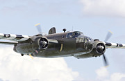 Classic Aircraft Prints - B25 - Portrait Print by Pat Speirs