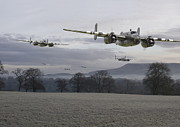 Aircraft Prints - B25 Strike Package Print by Pat Speirs