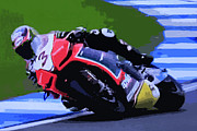 Motogp Posters - B3 Poster by Tom Griffithe