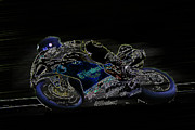 Motogp Prints - B9 Print by Tom Griffithe