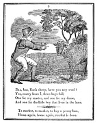 1833 Prints - Baa, Baa, Black Sheep, 1833 Print by Granger